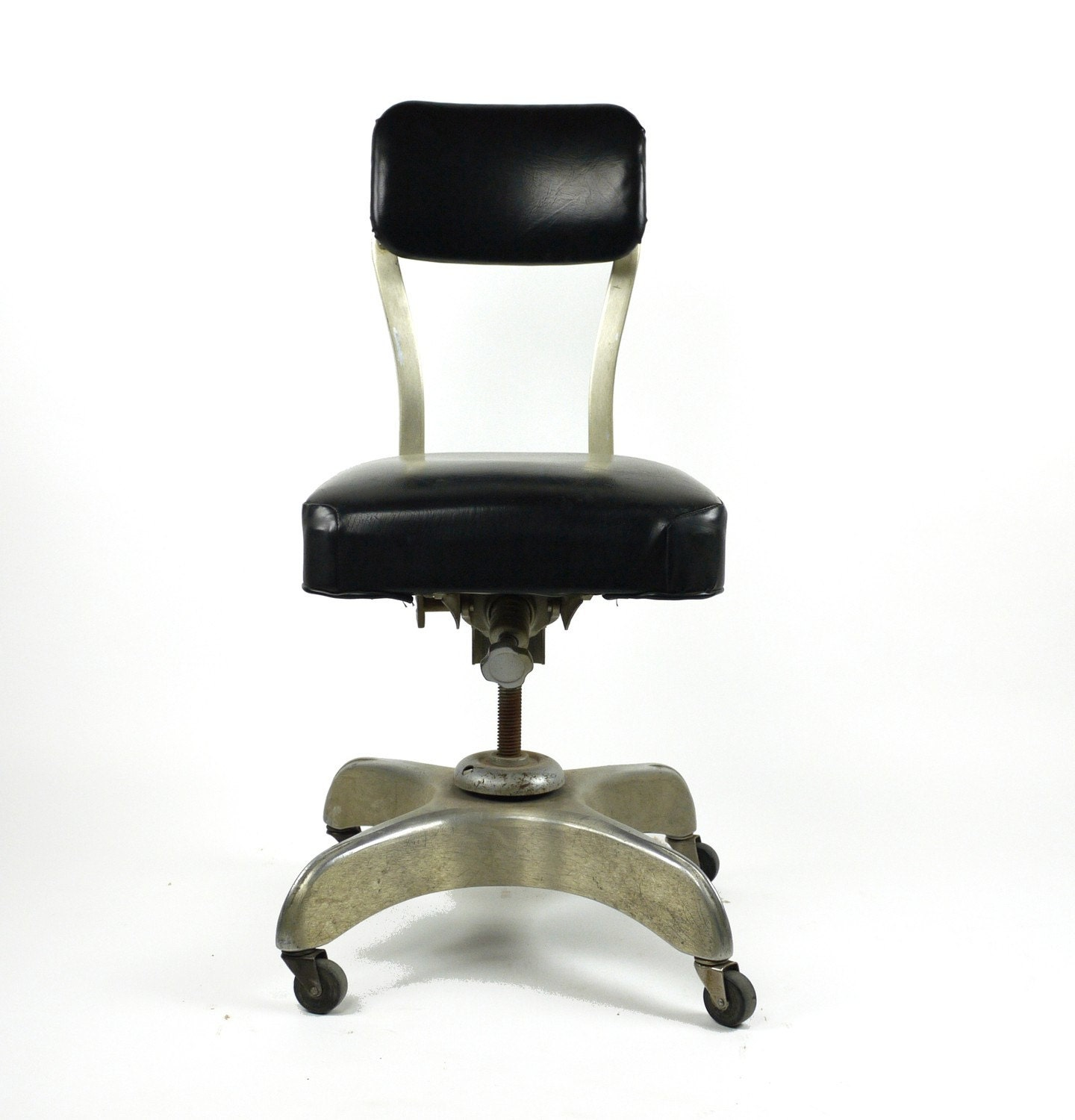 VIntage 1950 39 S Emeco Metal Swivel Tanker Desk Office Chair