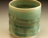 Rich Verdegris Green Porcelain Yunomi
