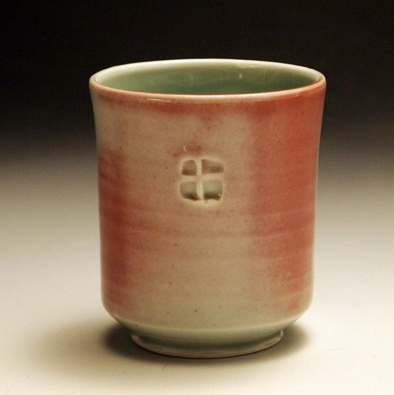 Blushed Celedon Yunomi (Cup)