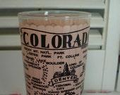 vintage souvenir glass from Colorado