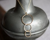 gold circle necklace- the bubbles