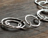 recycled silver double circle bracelet- the concentric