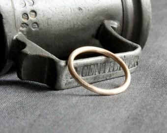 recycled gold brushed wedding ring | skinny gold wedding band | ecofriendly wedding