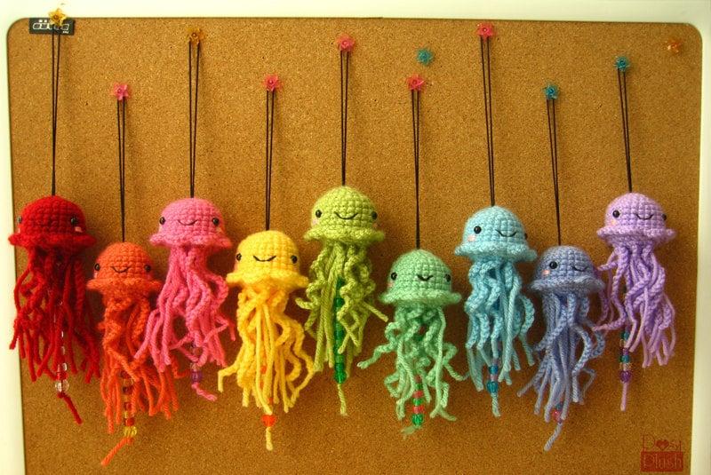 Onigiri Amigurumi Pattern Free : Sweet Hanging Amigurumi Jellyfish