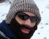 tan tweed bearded lumberjack hat