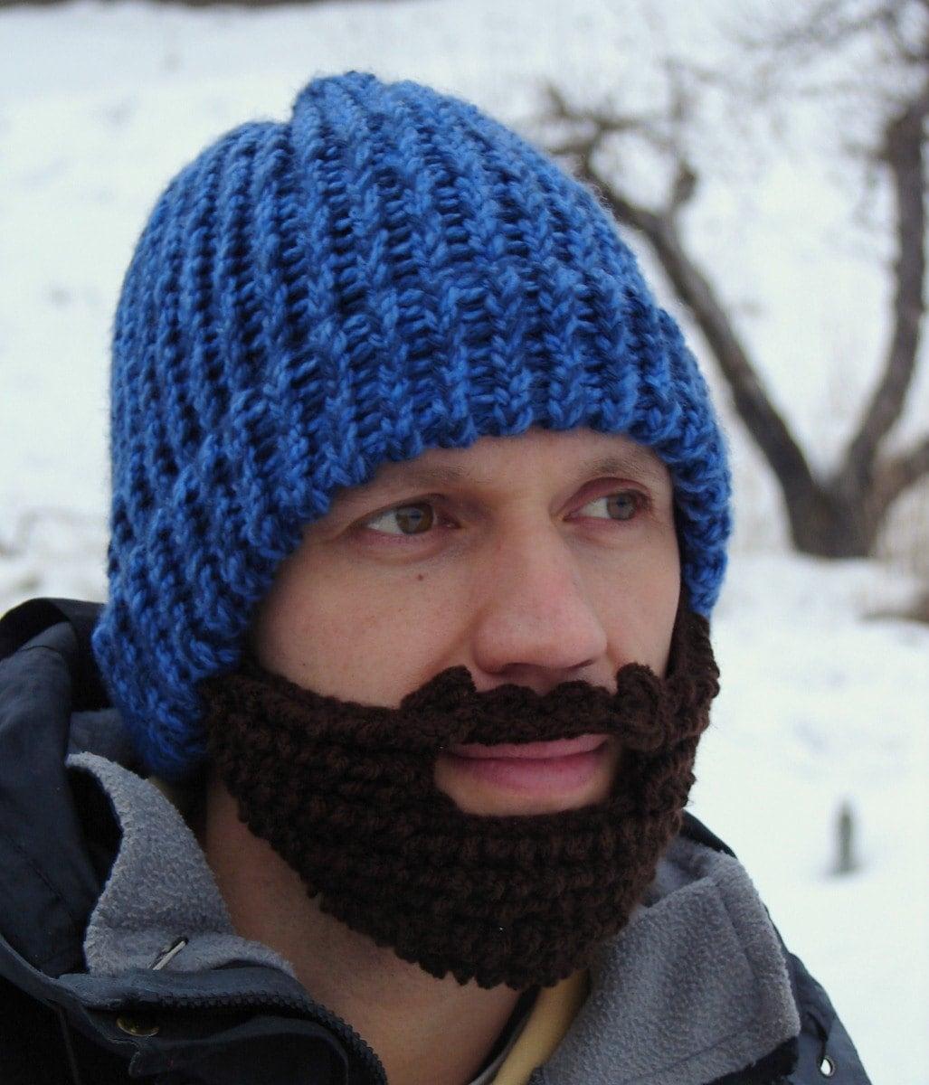 bearded blue lumberjack hat