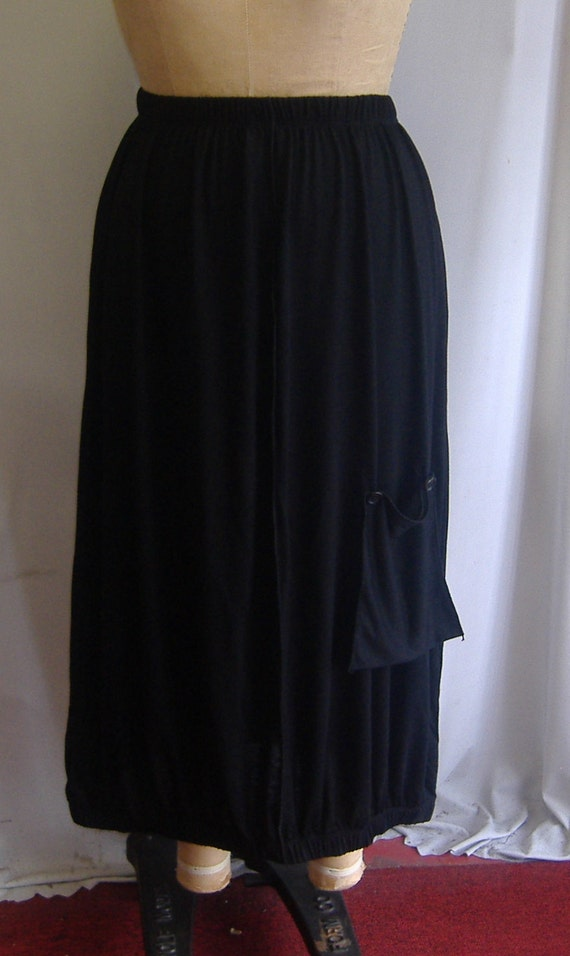 Coco and Juan Plus Size Skirt with Pocket Black Knit One Size, fits 1X,2X,3X