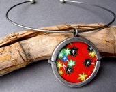 Japan Tsunami & Earthquake Relief  - Yuzen  Pendant -  reserved for olivebellbowtique