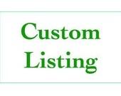Custom Listing For Roxanne Houtman