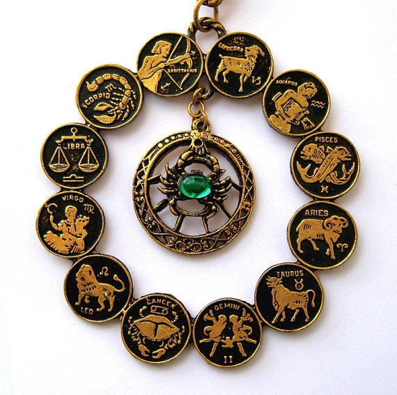 Zodiac Sign Necklace - Showcasing June/Cancer