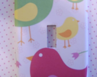 BIRDS of SPRING LIGHT SWITCH COVER