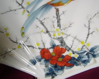 Japanese China Fan Dish/tray