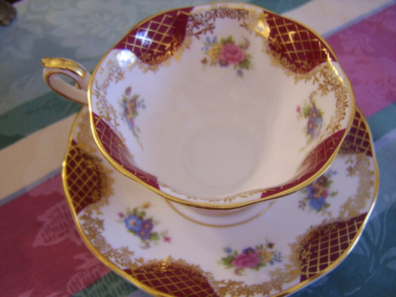 "Royal Albert ""Catherine"" English Bone China Cup and Saucer"