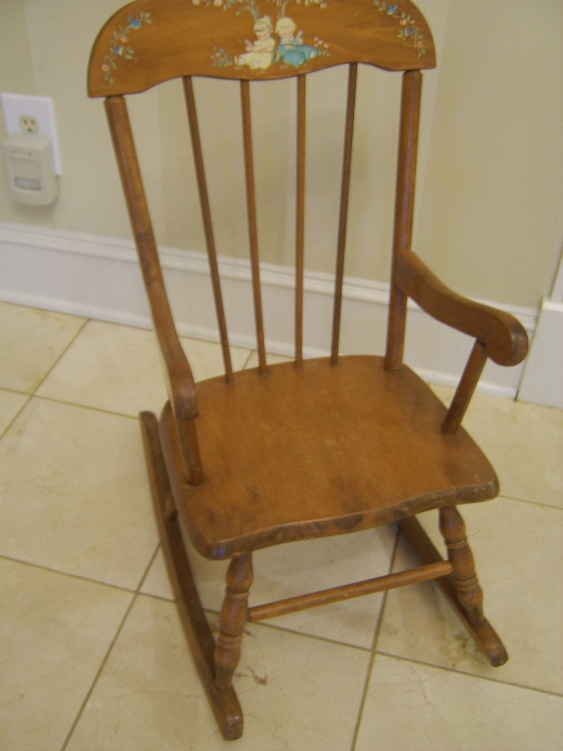 Childs 1960s Solid Maple Rocking Chair