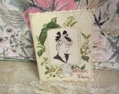 Mothers Day 1950s Style Card, Shabby Chic, Handmade