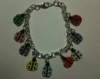 CHARM BRACELET - Beaded Charm Bracelet - Beaded Bracelet