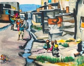 Children by the Sewer -PRINT