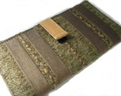 CREDIT CARD WALLET TAPESTRY FABRIC AND LEATHER