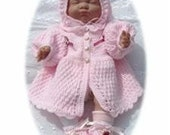 Baby Newborn Crochet Pattern Pretty in Pink Outfit