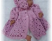 Baby Newborn Crochet Pattern Jacket and Bonnet - Emily