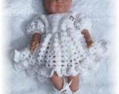 Baby Crochet Pattern Dress and Shoes - Sweet as Candy