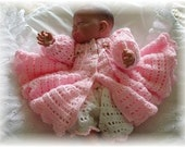 Baby Crochet Pattern Jacket and Bloomers - Bethany