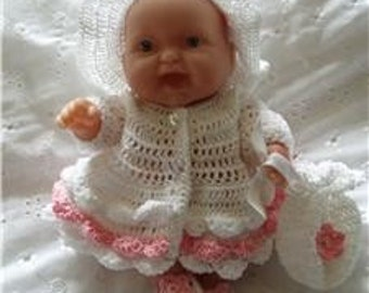 Olivia 8 inch Doll's 4 piece Crochet Pattern