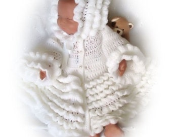 Baby Crochet Pattern Coat and Bonnet - Debbie