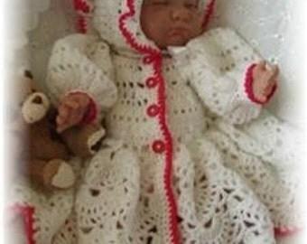 Baby Crochet Pattern Jacket and Bonnet - Cara