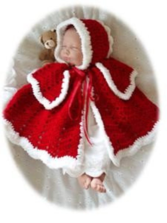 Items Similar To Baby Crochet Pattern Cape And Bonnet