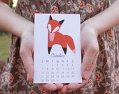2016 Calendar: Little Fox Calendar with Display Easel