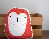 Clearance: Red Owl Pillow Nursery Decor, Home Decor