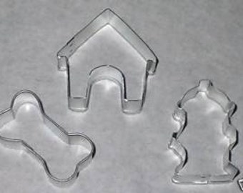 YOU PICK what you want- Small Breed Dog Bone,Hydrant, Doghouse or  Set of 3