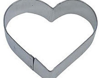"You pick small 1.75"" or 2.25"" MINI Heart Cookie Cutter Valentine's Day Wedding mini"