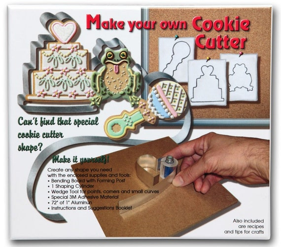 """Make Your Own Cookie Cutter Kit with forms, directions and 72""""  1""""metal"""