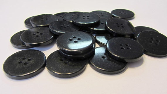 50 Black, 1 inch  Buttons