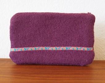 lilac rose - zipper clutch