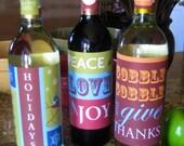 Holiday YOUprint Wine Wraps - Set of 3