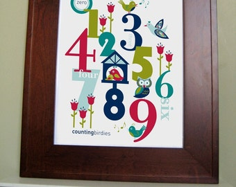 Digital Download, Printable Wall Art, 8x10-kids Numbers room decor - NAVY