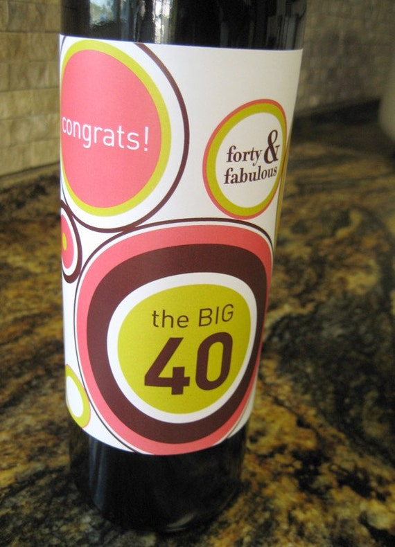 Digital Download - The BIG 40 Wine Wrap - Pink/Chocolate
