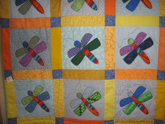 WRONG WAY DRAGONFLY quilt