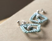 earrings - acute light blue and seafoam