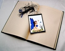 Blue Fairy with butterflies Bookmark
