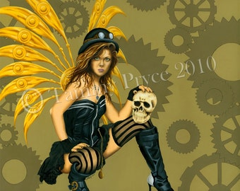 "Steampunk Fantasy Gothic Fairy 8x10"" Fine Art Print"