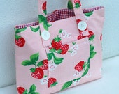 Pink Sweet Strawberry Tote Bag