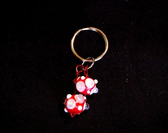 Red Bubble Key Chain