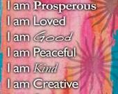 I am ... Positive Affirmation Fridge Magnet Self Help Spiritual Manifesting