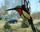 Stained Glass Hummingbird 3d Suncatcher