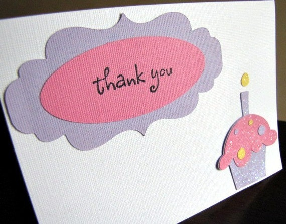 Thank You For Baking: Cupcake Party Thank You Cards, Cupcake Thank You Cards