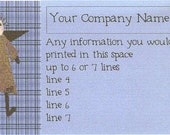 B14 - Prim Angel Blue Business Cards